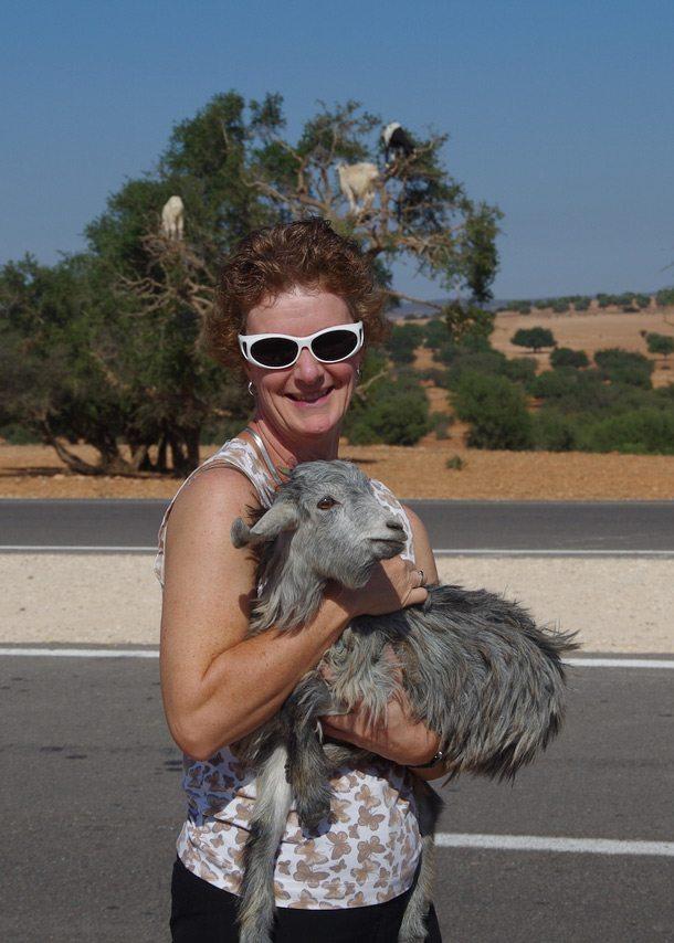Elain with Goat