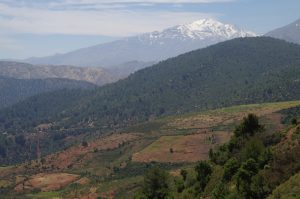 High Atlas toward Ouarzazate