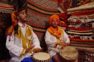 Imad and Abdul on drums