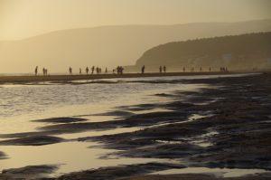 beach silhouette morocco